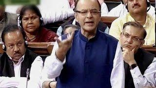 FM Arun Jaitley Attacks Rahul Gandhi - Full Speech