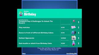 Music Pack Birthday 2nd - FORTNITE - CHALLENGES BIRTHDAY - BATTLE ROYALE - 2019 - B DAY BEATS