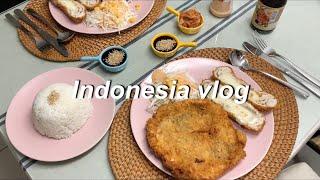 Indonesia vlog | 왕돈까스 만들기 | 치킨…