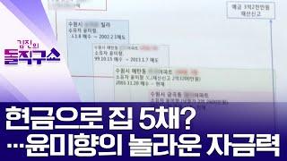 현금으로 집 5채?…윤미향의 놀라운 자금력 | 김진의 돌직구 쇼 489 회