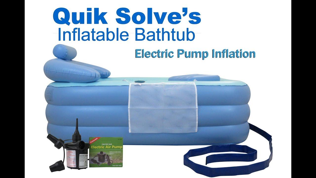 Adult Inflatable Bathtub with Electric Pump  Setup