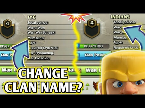CHANGE YOUR CLAN NAME 😍 | BEST UPDATE CONCEPT EVER 💪| MUST WATCH 😇 !