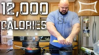World's Strongest Man - Full Day of Eating (12,000+ calories)