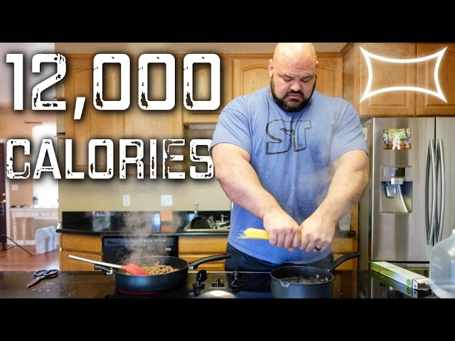 Worlds Strongest Man Full Day Of Eating 12 000 Calories