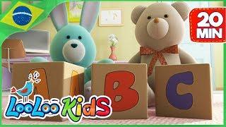 Canção do ABC -  Aprender alfabeto Português - Músicas Infantis - LooLoo Kids Português