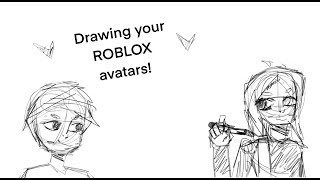 Drawing your ROBLOX avatars! (New art style)