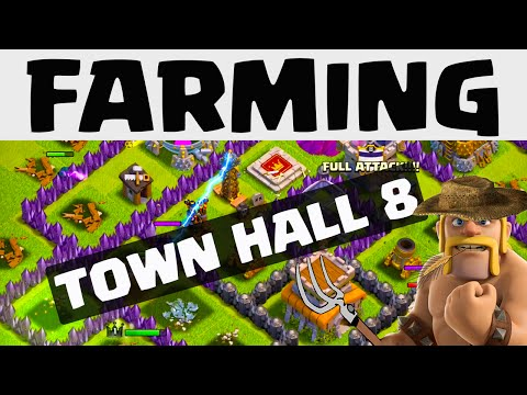 Clash Of Clans Update ♦ FARMING ♦ Town Hall 8 Farming And Defense Strategy ♦ CoC ♦