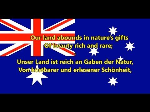 Australische Nationalhymne - Anthem of Australia (EN/DE Text)