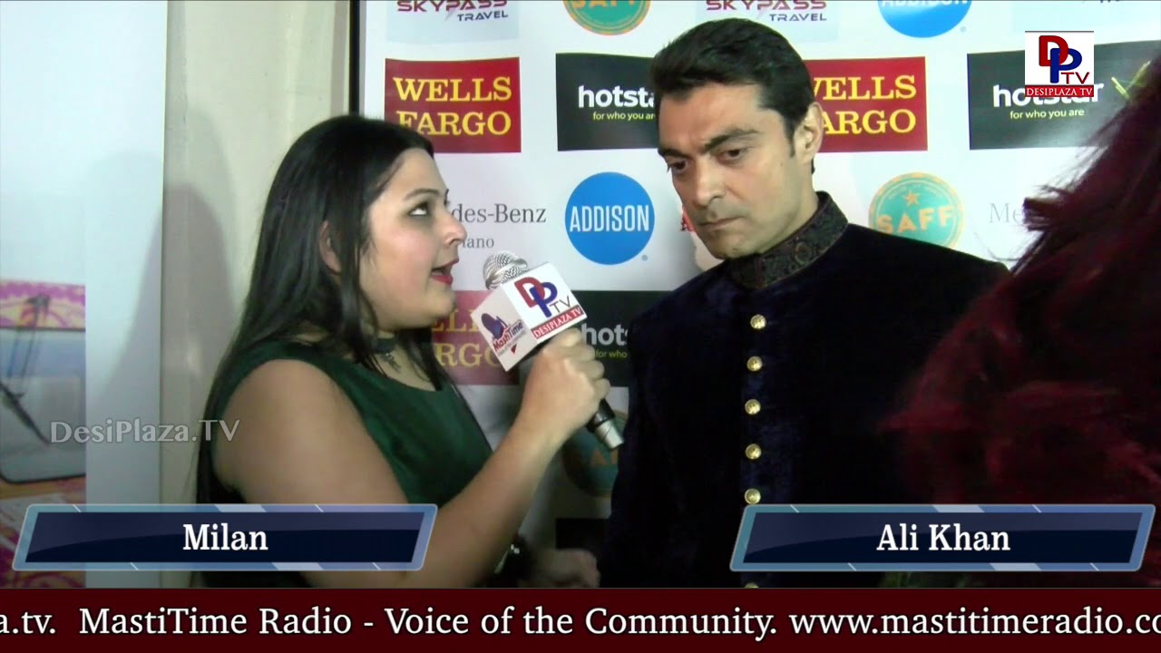 Alyy Khan, Pakistani-British actor speaking to  Desiplaza TV at DFW South Asian Film Festival 2018