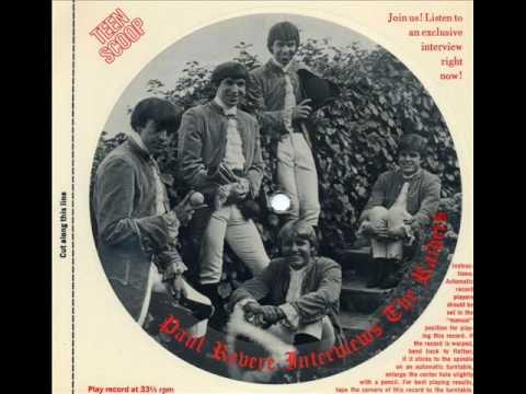 Rare! Paul Revere Interviews His Raiders - Free Cardboard Disc from Teen Scoop mag (1967)