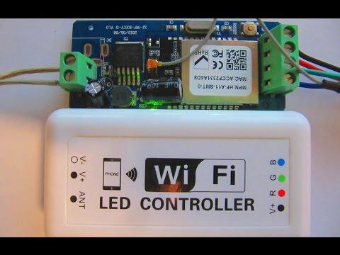 Светодиодная лента управление с телефона - wifi rgb led controller