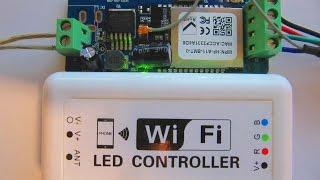 Светодиодная лента управление с телефона - wifi rgb led controller(Подключение светодиодной ленты через wifi. Обзор контроллера для светодиодных лент с упралавлением со смарт..., 2015-06-24T22:44:54.000Z)