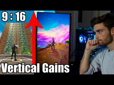 I Tried Vertical Resolution in Fortnite -...
