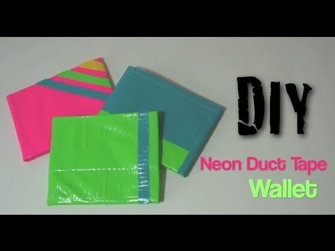 neon duct tape wallet diy tutorial youtube. Black Bedroom Furniture Sets. Home Design Ideas