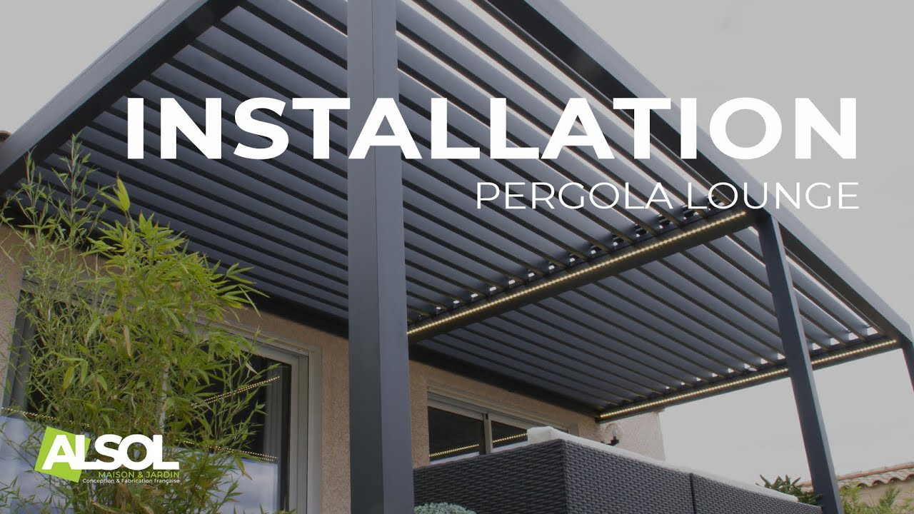 Pergola Bioclimatique Retractable Avis installation of a lounge bioclimatic pergola
