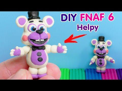ФНАФ 6 - ХЭЛПИ ЛЕПИМ ИЗ ПЛАСТИЛИНА | DIY Five Nights At Freddy's 6 Helpy