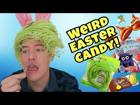 TRYING WEIRD EASTER CANDY!