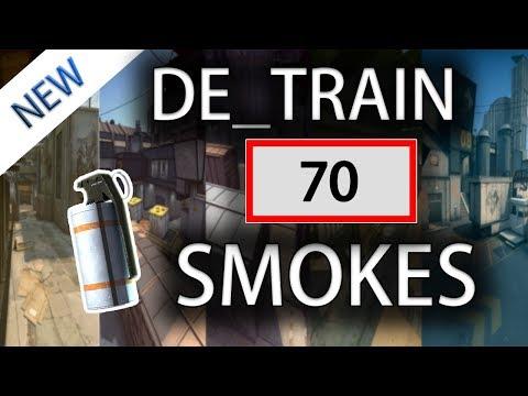 CS:GO - Train ALL SMOKES Tutorial (70+ Smokes) [2019] thumbnail