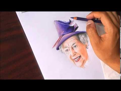 Drawing Queen Elizabeth Ii Youtube