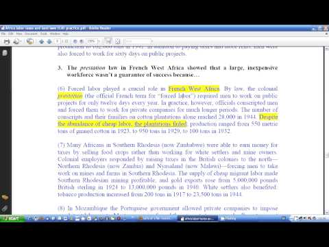 Africa labor taxes and land laws ELAE practice PART 1