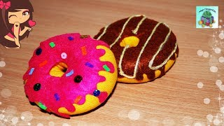 КАК СДЕЛАТЬ КРАСИВЫЙ ПОНЧИК ИЗ НОСКА СВОИМИ РУКАМИ.Donut from the sock (DIY, Handmade)