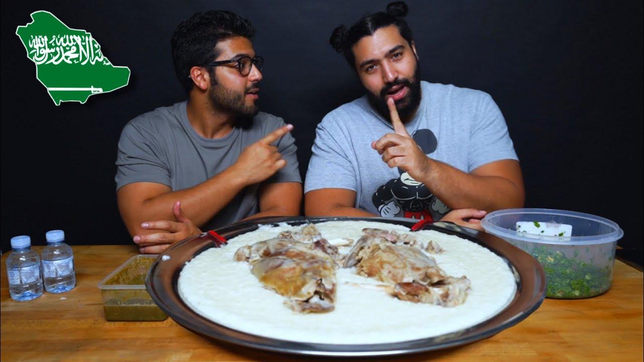 تحدي السليق الطائفي 🇸🇦 بلحم خروف حري | Saudi Saleq rice