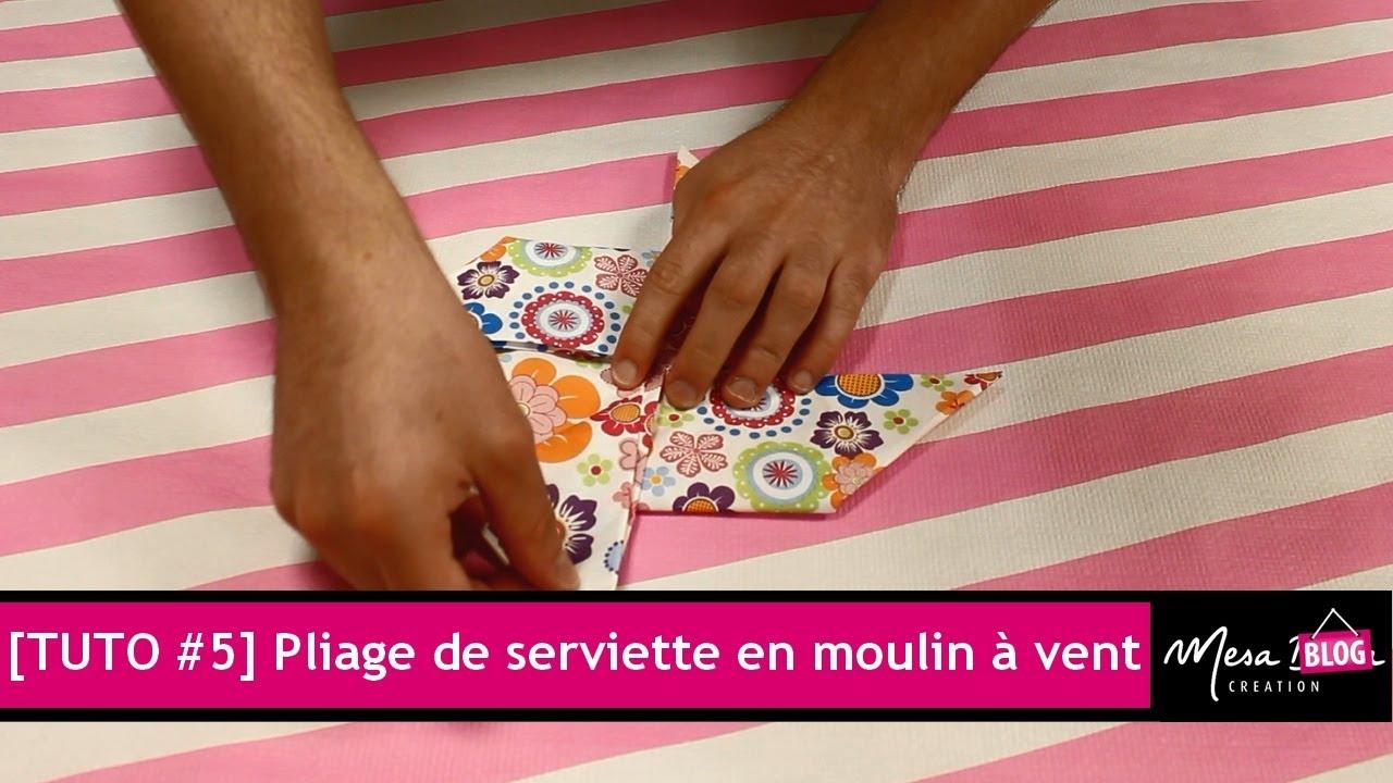 tuto #5] pliage de serviette en moulin à vent en 2 minutes ! - youtube