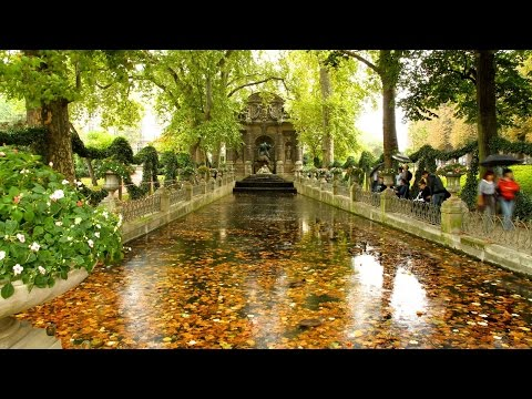 Walking through Garden of Luxembourg