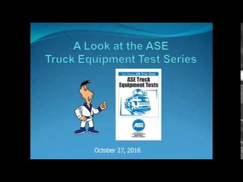 A Look at the ASE Truck Equipment Test Series