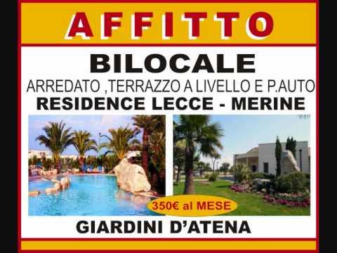 Lecce merine residence i giardini di atena affitto casa vacanza youtube - I giardini di atena lecce ...