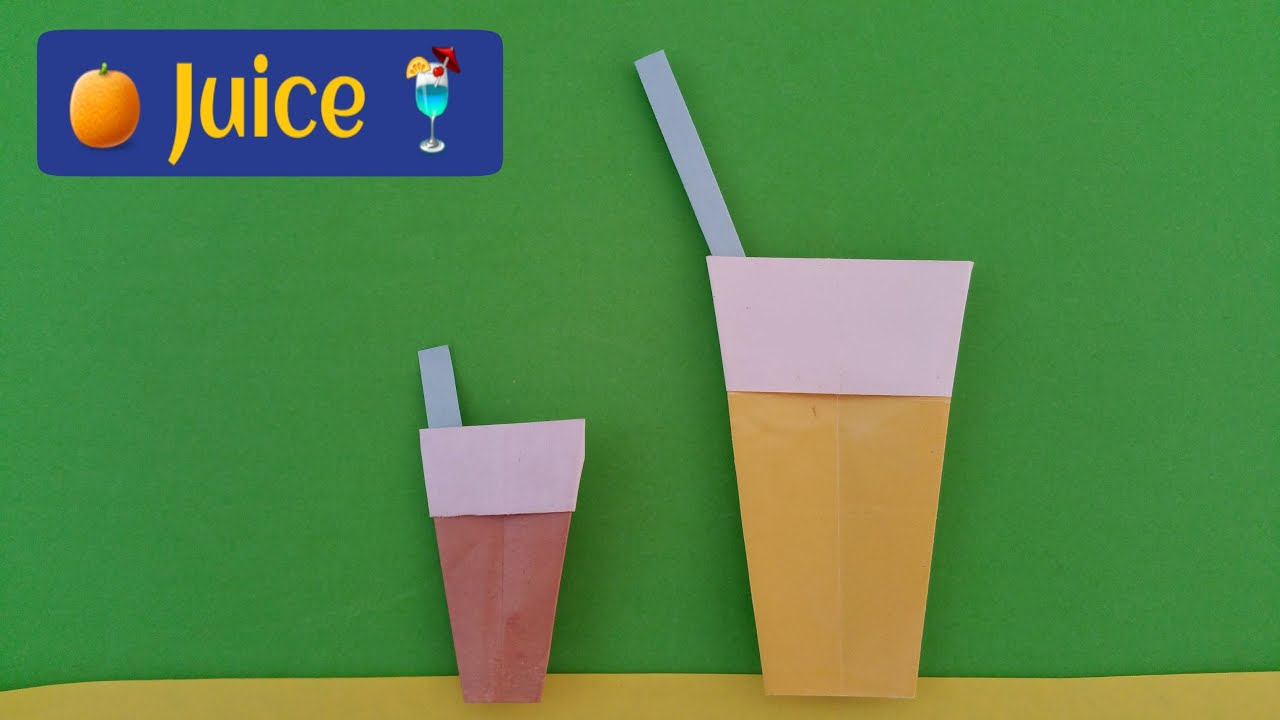 """How to make Paper """" Juice Cup🍹"""" - Origami for Beginners ... - photo#38"""