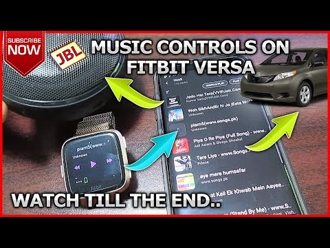 FITBIT VERSA How to control Music on your phone with your smart watch