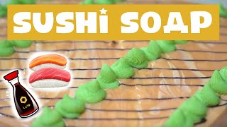 Making Sushi Cold Process Soap + My Favorite YouTubers   Royalty Soaps