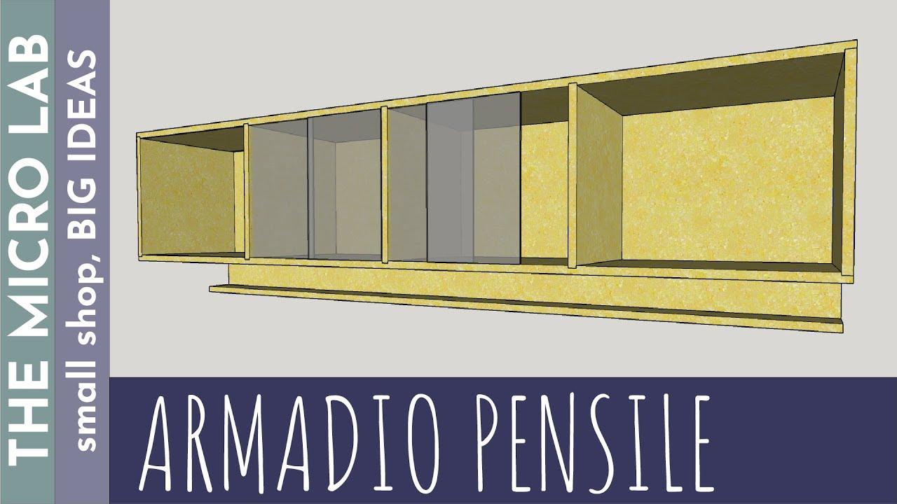 Mobile Ante Scorrevoli Fai Da Te.Come Costruire Un Armadio Pensile Con Ante Scorrevoli In Vetro