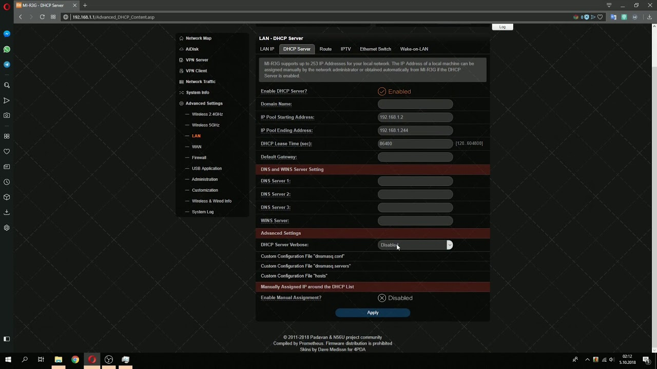 Mi Router 3G Padavan Firmware Review (all settings shown)