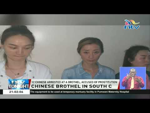 12 Chinese nationals arrested at a brothel, accused of prostitution