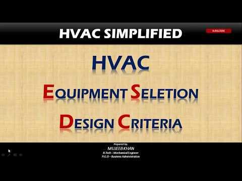 AHU, FCU & CHILLER Selections Design Criteria - HVAC System