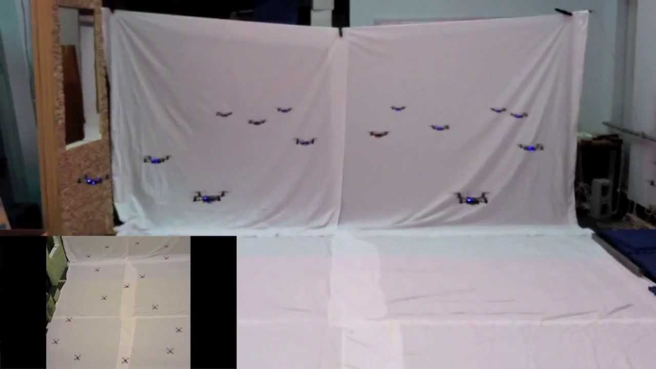 A Swarm Of Nano Quadrotors Youtube