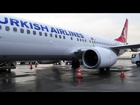 Взлет из Стамбула Boeing 737-800 Turkish Airlines
