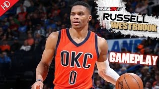 NBA 2K17 (Thunder VS Warriors) (NBA TV-v4 Scoreboard Mod) (HD) PC Gameplay