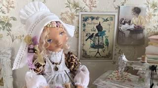 Коллекционная авторская текстильная кукла.