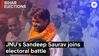 After Kanhaiya, JNU's Sandeep Saurav joins electoral battle in Bihar | JNU in Bihar Election