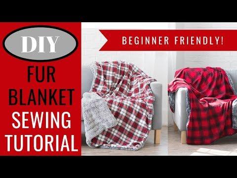 JOANN Faux Fur And Plaid Blanket Sewing Tutorial