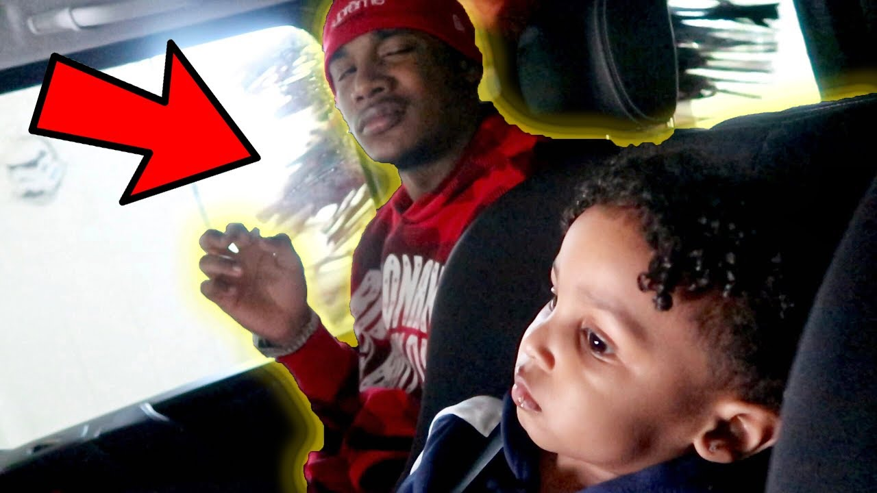 AR'MON SCARES BABY CJ AT CAR WASH!! Ft. Queen Naija
