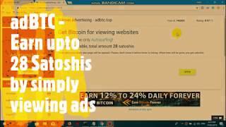 adBTC - Earn upto 28 Satoshi by simply viewing ads