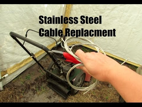 Using Stainless Steel Cable On A Weed Trimmer