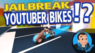I'm designing VOLT bikes for YouTubers in Roblox Jailbreak!!