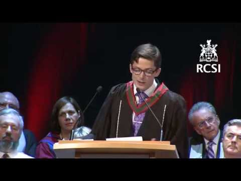 RCSI June Conferring 2014 - Eoin Kelleher, Valedictorian Address
