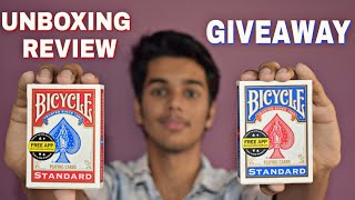 Bicycle Deck GIVEAWAY + UNBOXING and REVIEW  [ HINDI ]