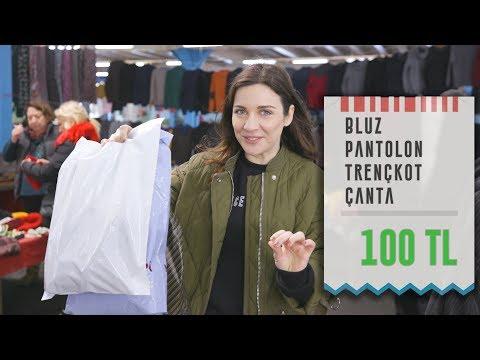 100 TL'ye Pazardan Kıyafet Alışverişi | Harika Kombin 👗